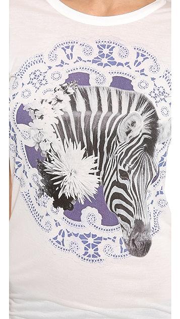 Emma Cook Zebra Lace Tee