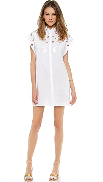 Emma Cook Embroidered Shirt Dress