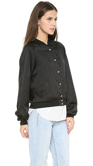 Emma Cook Lace Print Bomber Jacket