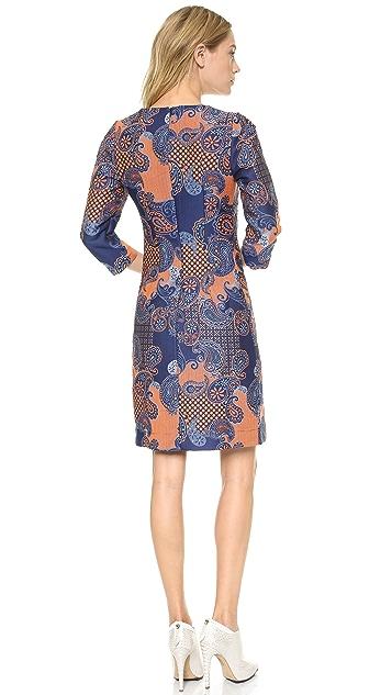 Emma Cook Paisley Jacquard Shift Dress