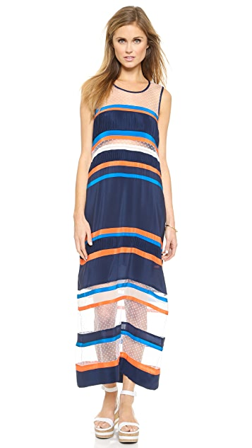 Emma Cook Ribbon Stripe Maxi Dress