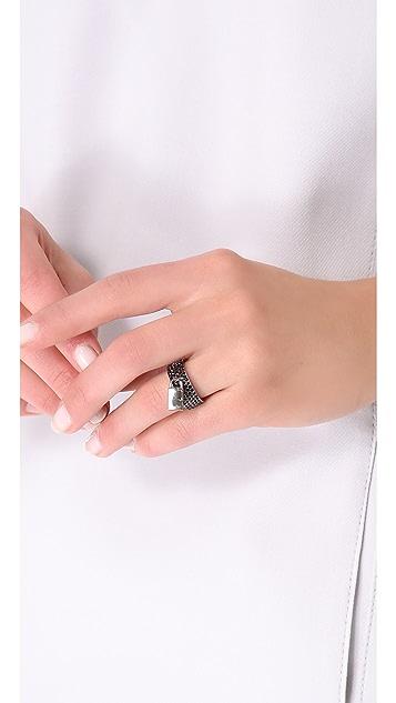 Eddie Borgo Pave Padlock Ring