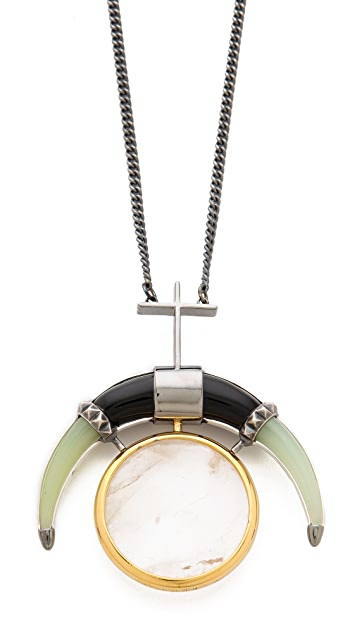 Eddie Borgo Moon Pendant Necklace