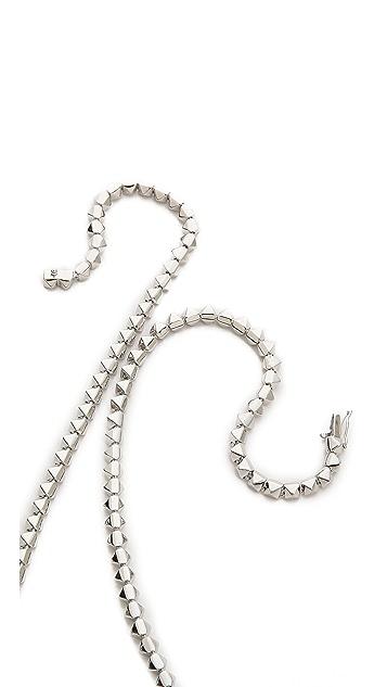Eddie Borgo Pyramid Link Necklace
