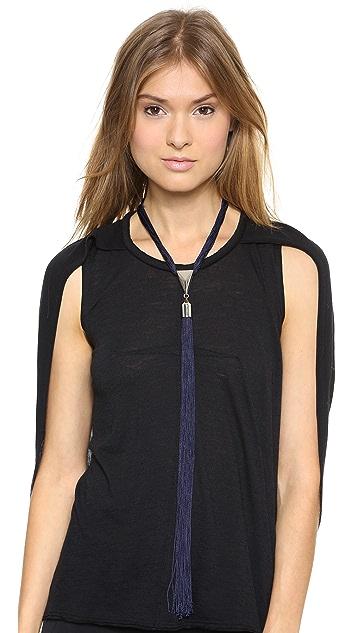 Eddie Borgo Long Silk Tassel Necklace