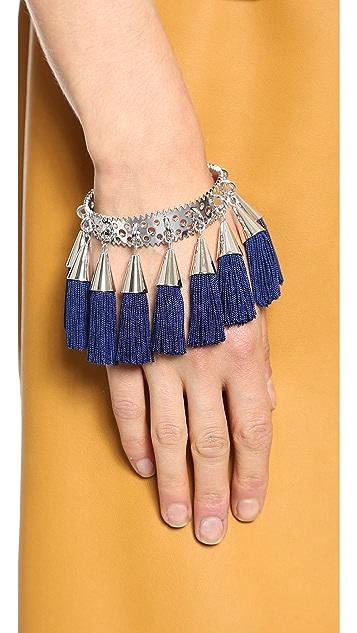 Eddie Borgo Small Silk Tassel Cuff