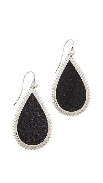 Eddie Borgo Inlaid Teardrop Slice Earrings