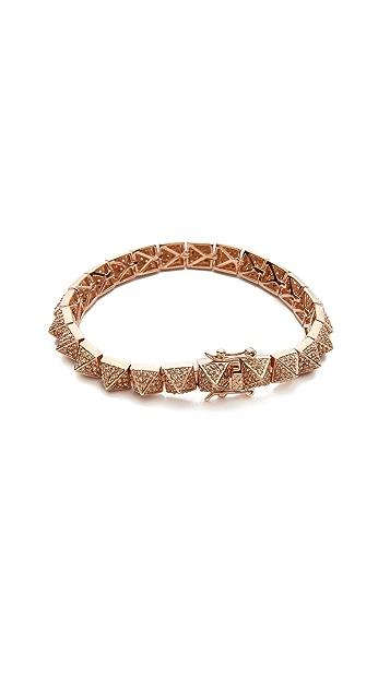Eddie Borgo Pave Small Pyramid Bracelet
