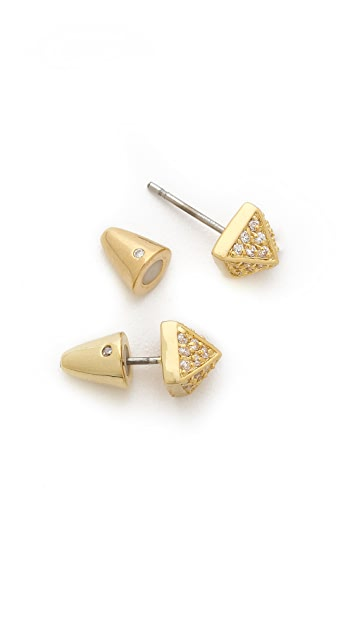 Eddie Borgo Pave Stud Earrings