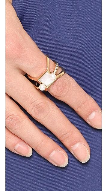 Eddie Borgo Freshwater Cultured Pearl Orbit Ring