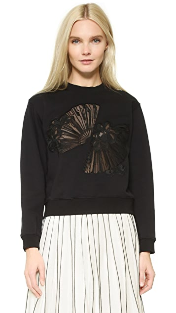 Edition10 Fan Cutout Sweatshirt