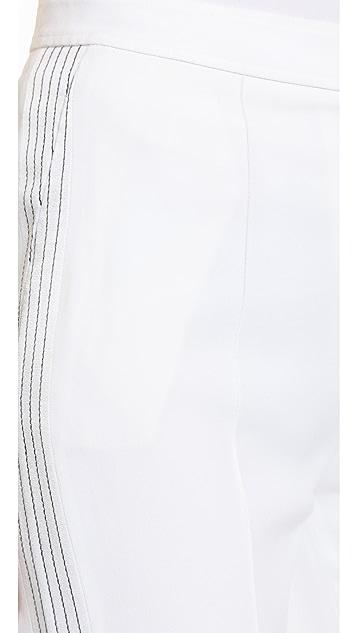 EDUN Embroidered Stitch Flare Pants