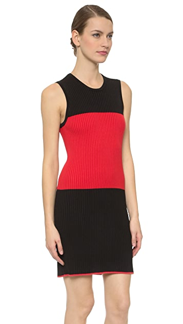 EDUN Ribbed Sleeveless Dress