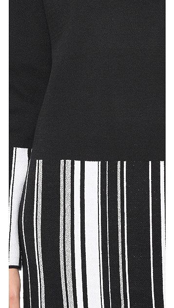 EDUN Striped Turtleneck Dress