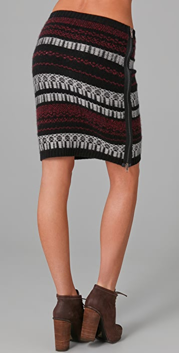 EDUN Zipped Sweater Skirt