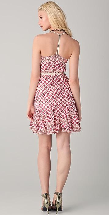 EDUN Diamond Print Strappy Dress