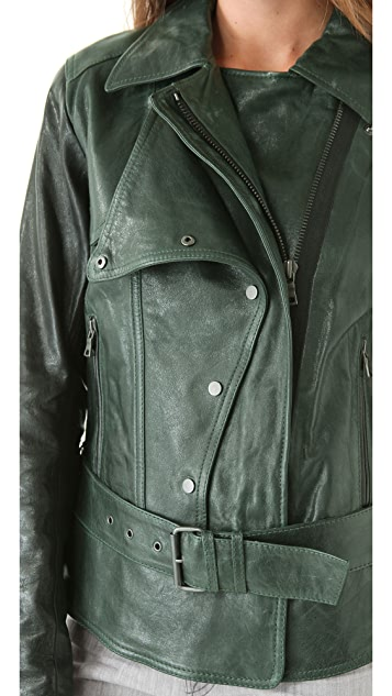 EDUN Leather Motorcycle Jacket