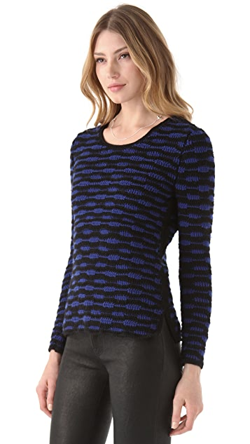 EDUN Zebra Stripe Crochet Sweater