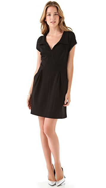 EDUN Short Sleeve Collared Dress