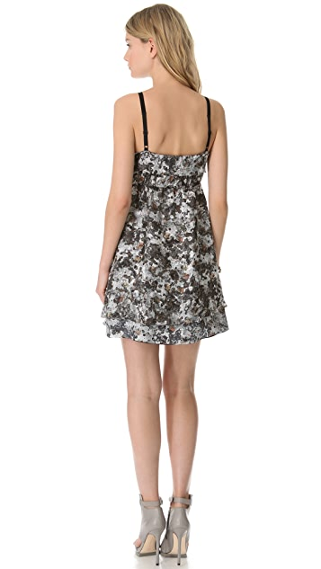 EDUN Crosshatch Camo Print Dress