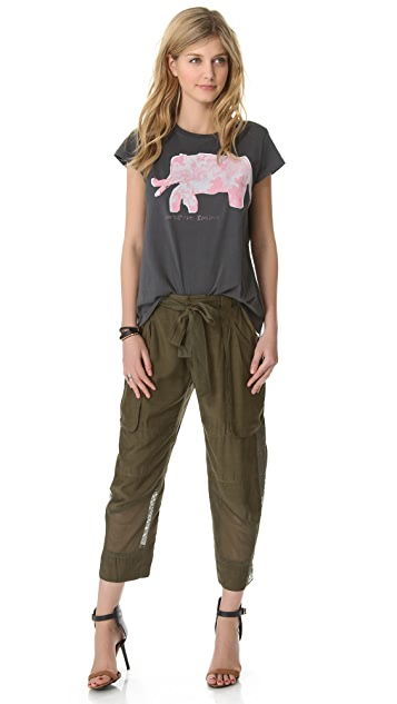 EDUN Elephant Scoop Neck Tee