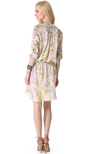 EDUN Bleach Camo Print Shirtdress