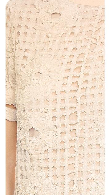 ENGLISH FACTORY Lattice Dress