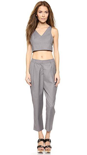 ENGLISH FACTORY Crop Trousers