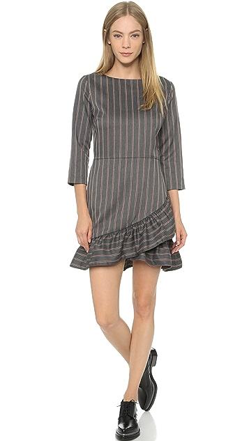 ENGLISH FACTORY Pinstripe Mini Dress