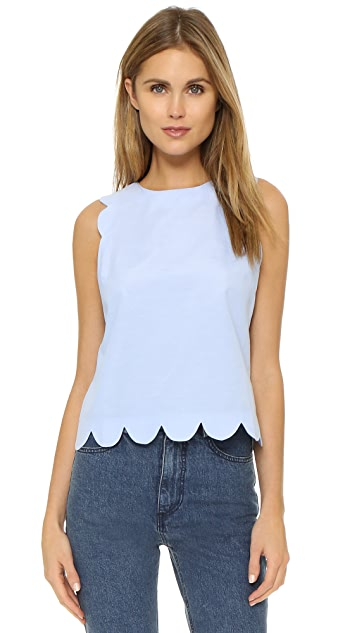 shades of shop for luxury hot-selling clearance Scallop Top