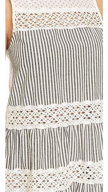 ENGLISH FACTORY Eyelet Stripe Mini Dress