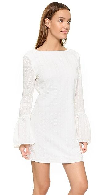 ENGLISH FACTORY Мини-платье с расклешенными рукавами