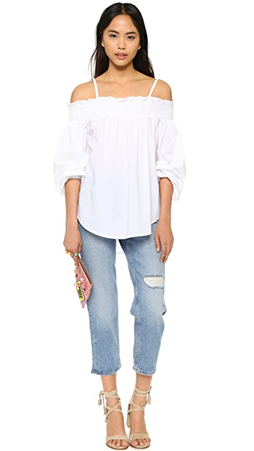 ENGLISH FACTORY Off Shoulder Blouse