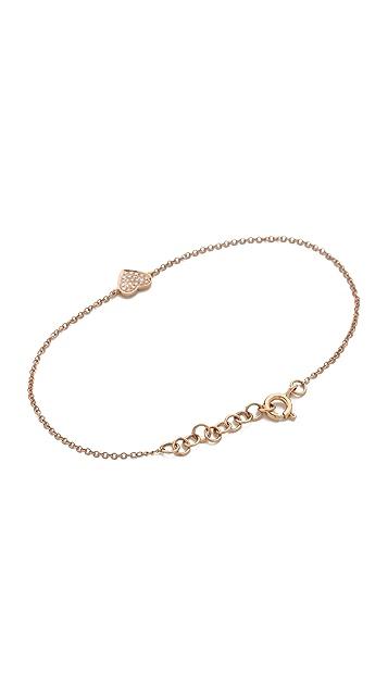 EF Collection Pave Diamond Heart Bracelet