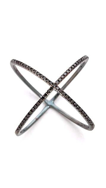 EF Collection Pave Diamond X Ring