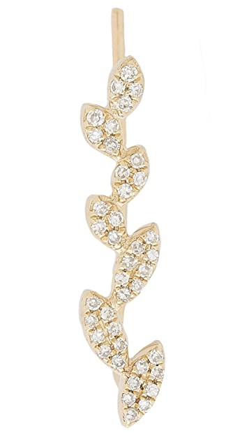 EF Collection Diamond Leaf Ear Crawler
