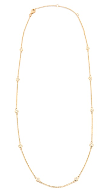 EF Collection 14k Gold 10 Diamond Strand Necklace