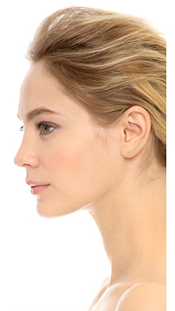 EF Collection Floating Stone Curved Bar Left Ear Crawler