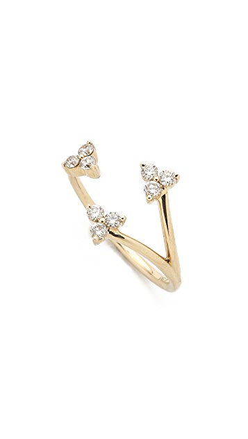 EF Collection Open Diamond Triple Trio Ring