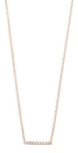 EF Collection - 14K 金钻石迷你条扣项链