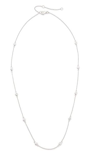 EF Collection 14k Gold 10 Diamond Strand Necklace