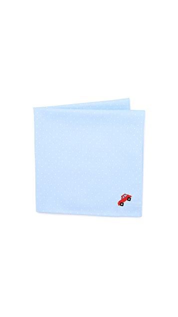 East Dane Gifts Embroidered Car Cross Stitch Handkerchief