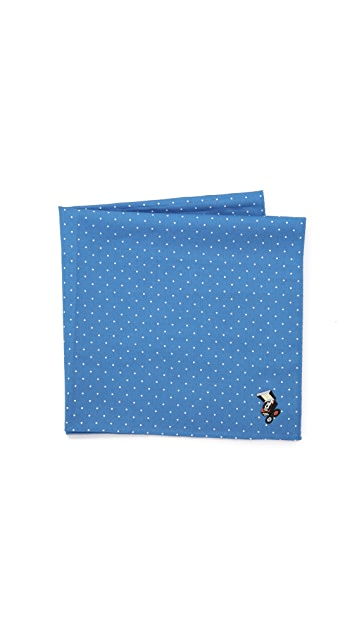 East Dane Gifts Embroidered Record Player Cross Stitch Handkerchief