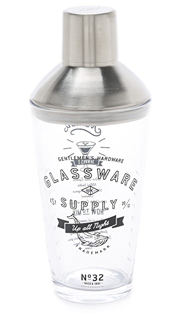 East Dane Gifts Glass Cocktail Shaker