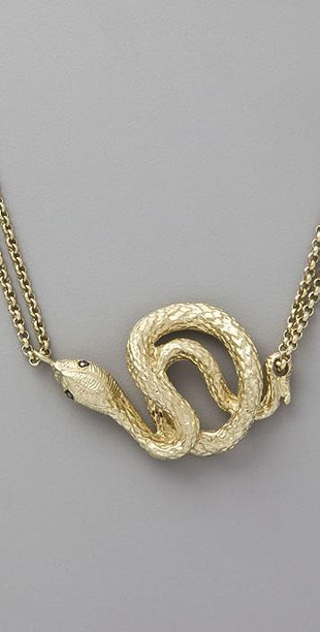 Erica Klein Short Snake Necklace with Swarovski Crystals