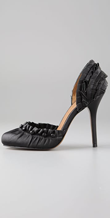 Elizabeth and James Risky Ruffle Pumps