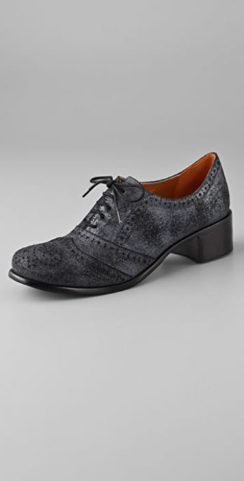 Elizabeth and James Wicked Suede Oxford Flats