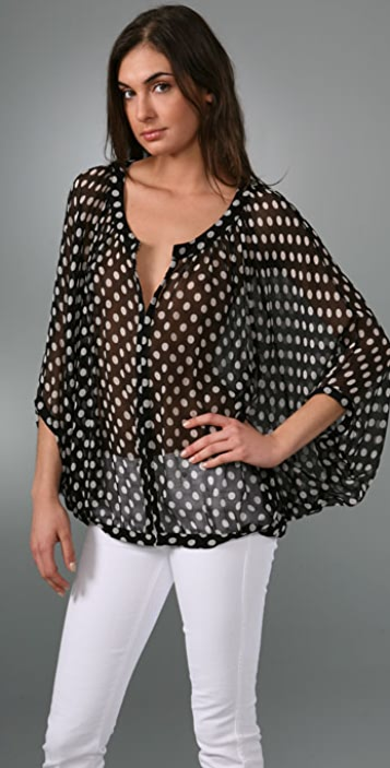 Elizabeth and James Elise Polka Dot Blouse