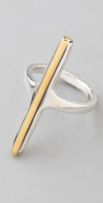 Elizabeth and James Vertical Bar Ring