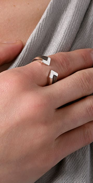 Elizabeth and James Double Chevron Ring